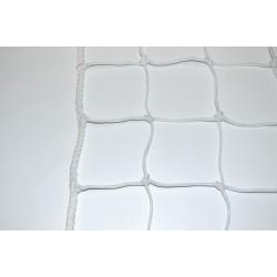 Mreža za rokomet PE 4 mm 100*100 bela UV, 310*210*80/100cm