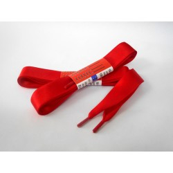 Vezalke- saten, rdeča, 120 cm